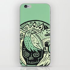 Bubble head - green iPhone & iPod Skin