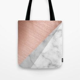 Rose Gold and Marble Tote Bag