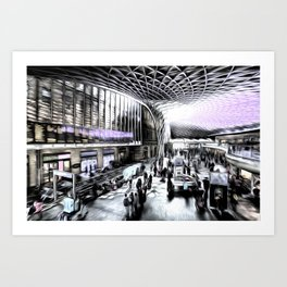 Kings Cross Station London Art Art Print
