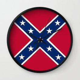 Confederacy Battle Flag Of Virginia Wall Clock