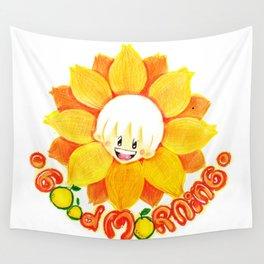 good morning sunflower boy Wall Tapestry