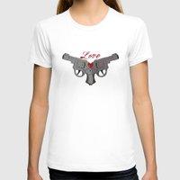 guns T-shirts featuring Love Guns by AnnaCas