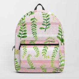 fresh green on gentle pink Backpack