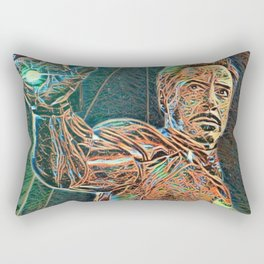 Iron Man Tony Stark Artistic Illustration Wires Style Rectangular Pillow