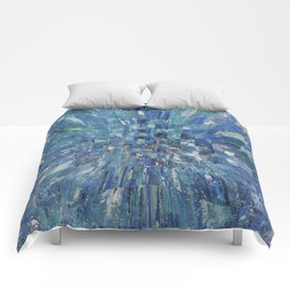 Abstract blue pattern 5 Comforters