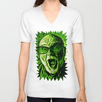 scream V-neck T-shirts featuring SCREAM! by Silvio Ledbetter
