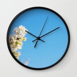 Blue Blossom Wall Clock