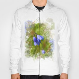 Pretty bluebells on white Hoody