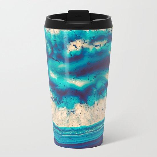 Blue Agate Water Element Metal Travel Mug