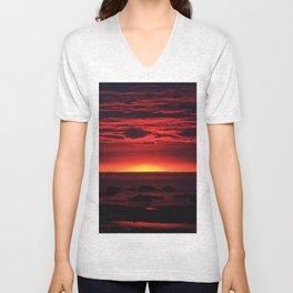 Red Sky at Night Unisex V-Neck