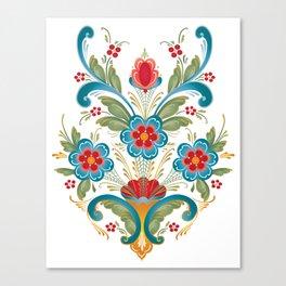 Nordic Rosemaling Canvas Print