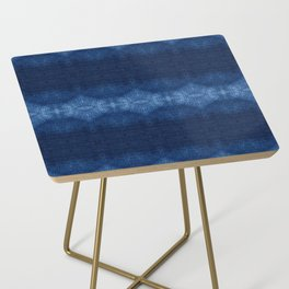 Quilted Indigo Side Table