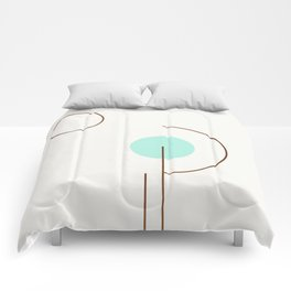 Balm 03 // ABSTRACT GEOMETRY MINIMALIST ILLUSTRATION Comforters