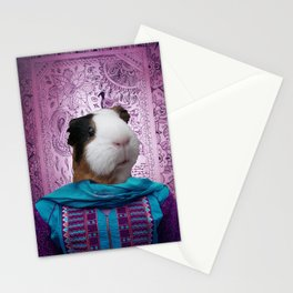 Bollywood Purple Guinea Pig  Stationery Cards