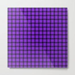 Small Violet Weave Metal Print