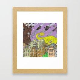 King Kong Color Framed Art Print
