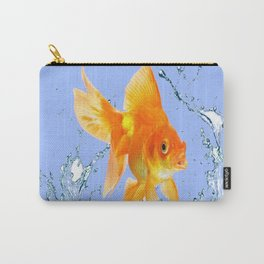DECORATIVE  GOLDFISH SPLASHING  WATER ART Carry-All Pouch