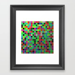 Metallic Colour Grid Framed Art Print