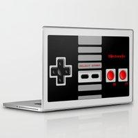 nintendo Laptop & iPad Skins featuring Nintendo Controller by Janismarika