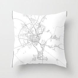 Minimal City Maps - Map Of Gomel, Belarus. Throw Pillow