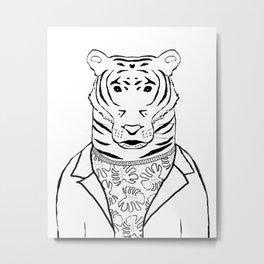 Tirion the Tiger Metal Print