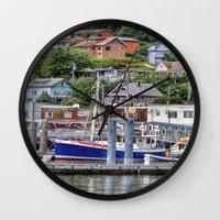 alaska Wall Clocks featuring Alaska by Christine Workman