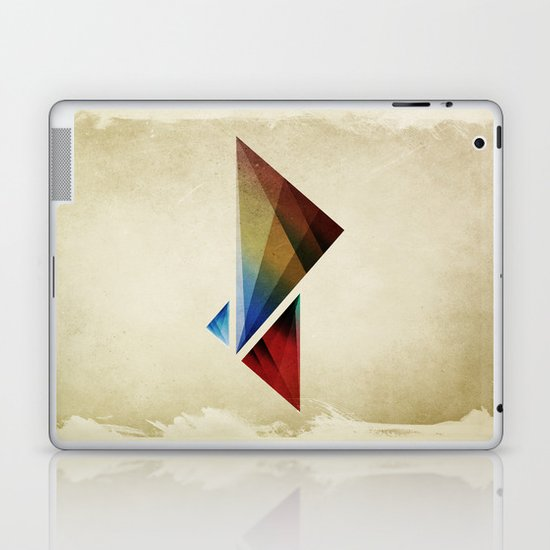 Triangularity Means We Dream in Geometric Colors Laptop & iPad Skin