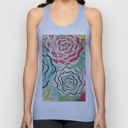 Sassy Flower Painting Unisex Tank Top