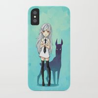 doberman iPhone & iPod Cases featuring Doberman by Freeminds