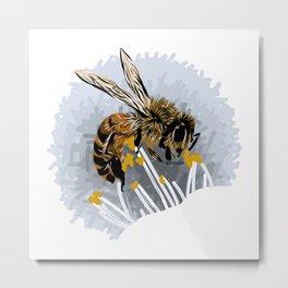 Bee - Abeja Metal Print