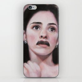 Portrait of Sarah Silverman iPhone Skin
