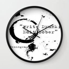 Hemingway Writing Quote Wall Clock