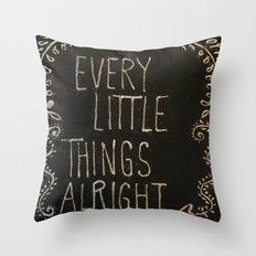 Chalkboard Art Throw Pillow