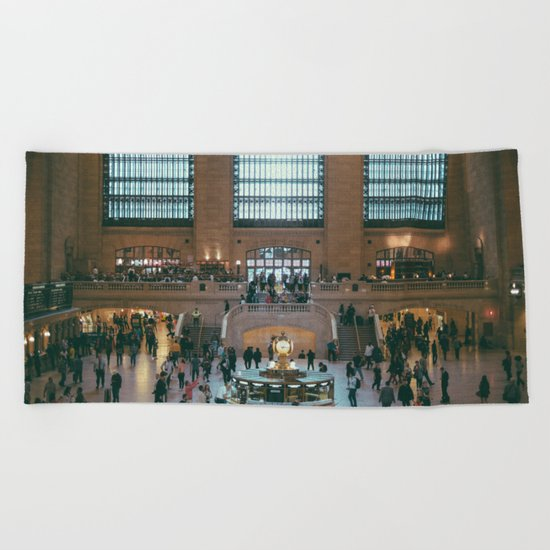 The Amazing Grand Central Station II Beach Towel