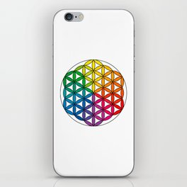 Flower of Life - Rainbow Directional iPhone Skin