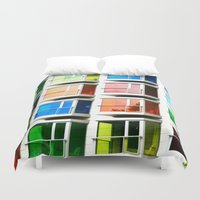 rainbow Duvet Covers featuring rainBOW by 2sweet4words Designs