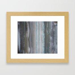 Agate Stripe Gray Framed Art Print