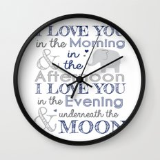 Elephant nursery print Wall Clock