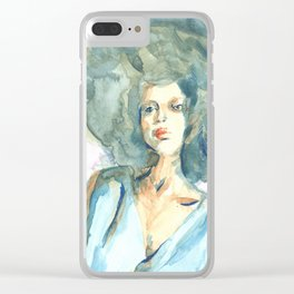 Green lady Clear iPhone Case