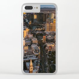 Sunset over Las Vegas Strip Clear iPhone Case