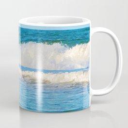 Abstract vibrant splashing waves off the coast of Queensland Coffee Mug