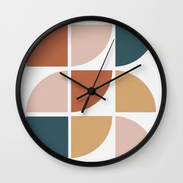 Mid Century Circles Wall Clock