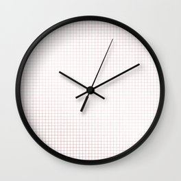 Simply Grid Lines in Rose Gold Sunset Wall Clock