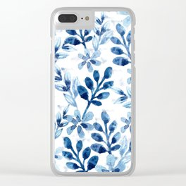 Watercolor Floral VIII Clear iPhone Case