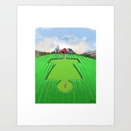 Crop Circles Disc Golf Artwork Art Print