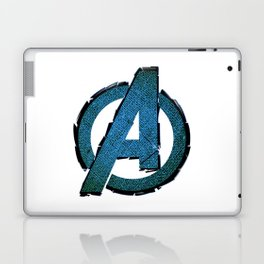 UNREAL PARTY 2012 AVENGERS LOGO FLYERS Laptop & iPad Skin