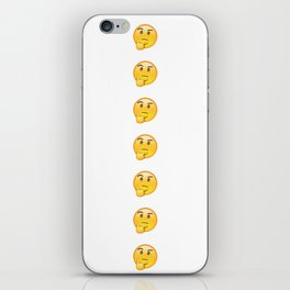 EMOJI THINKER THINK iPhone Skin