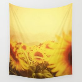 Delving in Yellow Wall Tapestry