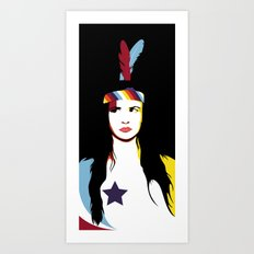 =Juliette Lewis///Black= Art Print