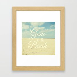 Gone To The Beach Framed Art Print